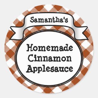 Custom Cinnamon / Applesauce Canning Jar Label