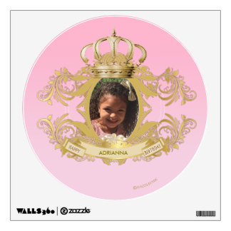 Custom Circle Wall Princess Decal