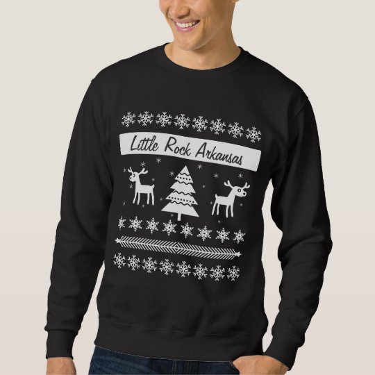 Custom City Name Ugly Christmas Sweater Reindeer