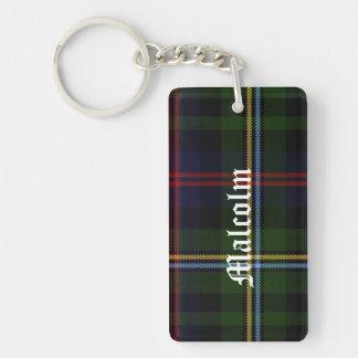 Custom Clan Malcolm Tartan Plaid Key Chain