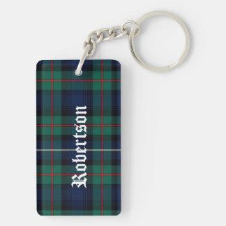 Custom Clan Robertson Tartan Plaid Key Chain