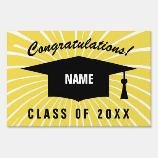 Custom class of graduation year yard sign