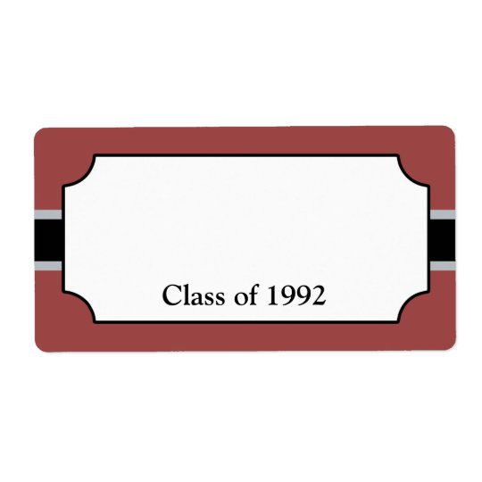 Custom Class Reunion Name Tag Labels