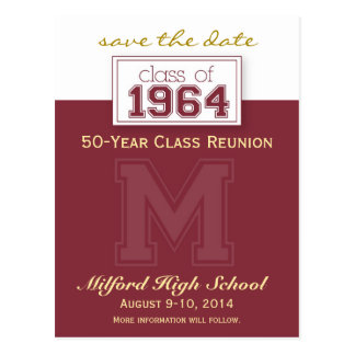 :custom: Class Reunion Save-the-Date Announcement Postcard