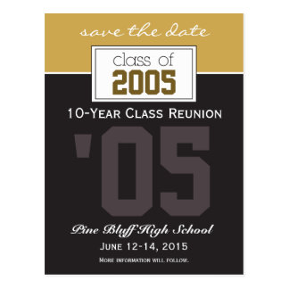 Custom Class Reunion Save-the-Date Announcement Postcard