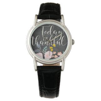 Custom Classic Black Leather Watch