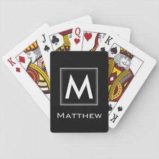 Custom Classic Framed Monogram Poker Deck