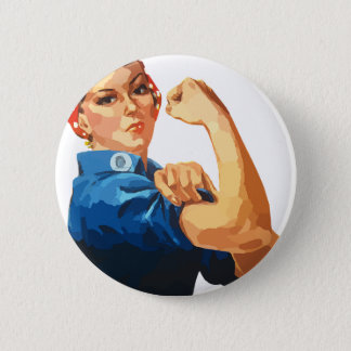 Custom Classic Rosie The Riveter 2 Inch Round Button