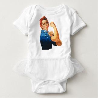 Custom Classic Rosie The Riveter Baby Bodysuit
