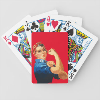 Custom Classic Rosie The Riveter Bicycle Playing Cards