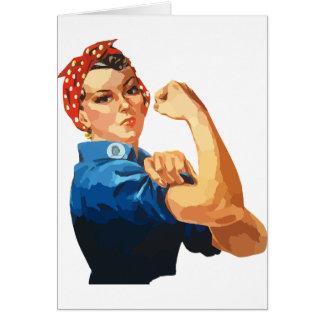 Custom Classic Rosie The Riveter Card