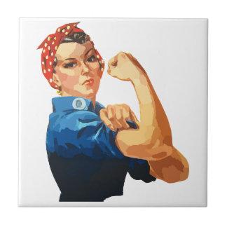 Custom Classic Rosie The Riveter Ceramic Tiles