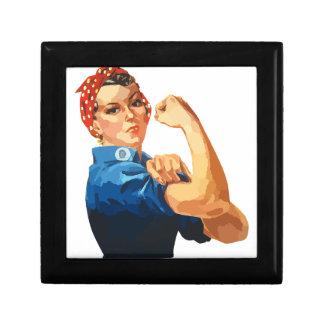 Custom Classic Rosie The Riveter Keepsake Box