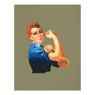Custom Classic Rosie The Riveter Letterhead