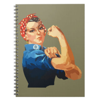 Custom Classic Rosie The Riveter Notebook