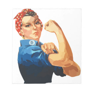 Custom Classic Rosie The Riveter Notepad