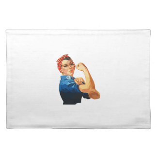 Custom Classic Rosie The Riveter Placemat