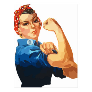 Custom Classic Rosie The Riveter Postcard