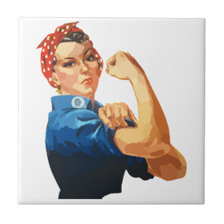 Custom Classic Rosie The Riveter Tile