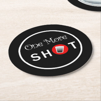 Custom Coasters with Shot Glass Graphic