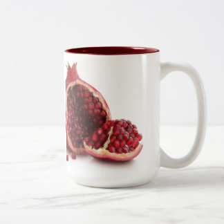 custom coffee mugs--POMEGRANATE Two-Tone Coffee Mug