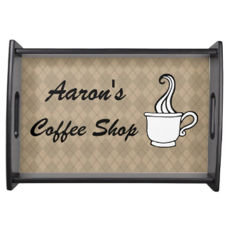 Custom Coffee Shop Serving Snack Decor Tray Gift Food Trays