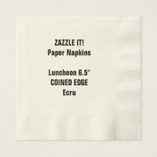 Custom Coined Edge Luncheon Paper Napkins Blank