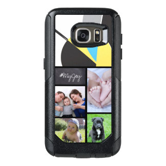 Custom Collage 5 Photos with text, Abstract art OtterBox Samsung Galaxy S7 Case