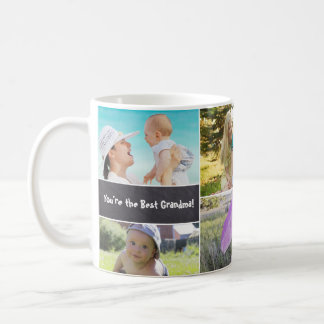 Custom Collage 6 Photos, Personalized, chalked Coffee Mug