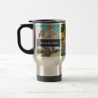Custom Collage 6 Photos, Personalized, chalked Travel Mug
