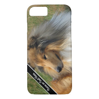 Custom Collie Dog Resting Photo Phone Case