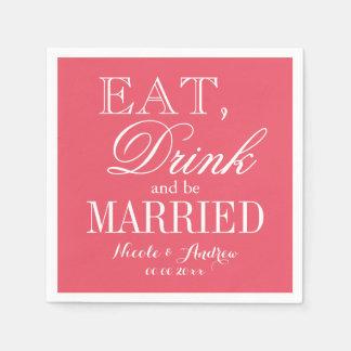 Custom color background paper wedding napkins