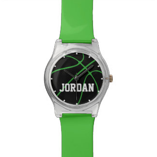 Custom Color Black Basketball Watch for Kids