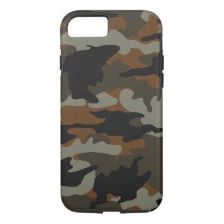 Custom Color Brown Camo Camouflage Pattern Durable iPhone 7 Case
