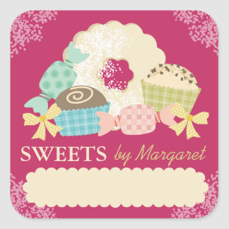 Custom color candy truffle cookie food labels