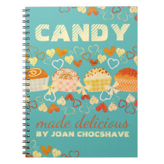 Custom color candy truffle sweets recipe notebook