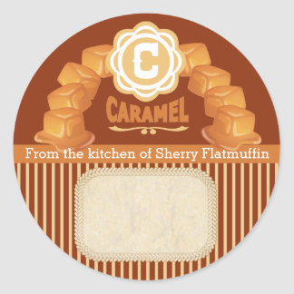 Custom color caramel canning label food gift label