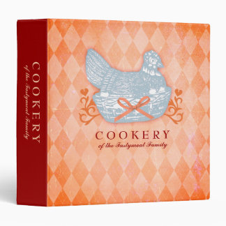 Custom color chicken casserole recipe binder