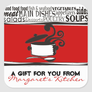 Custom color cooking pot curling steam gift tag