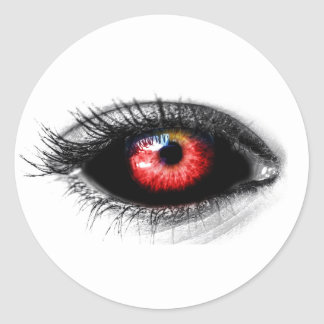 Custom Color Creepy Red Zombie/Vampire Eye Sticker