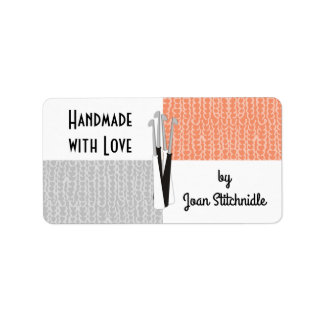Custom color crochet hooks gray color block label