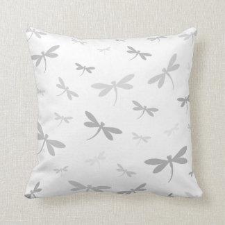 Custom Color Dragonflies - Various Shades Throw Pillow