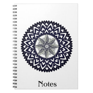 Custom Color Eastern Geometric Mandala Notebook