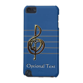 Custom Color Embossed Music Treble Clef and Heart iPod Touch 5G Case