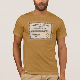 Custom color employee recognition excellence cert T-Shirt
