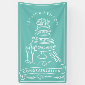 Custom Color Engagement Congratulations Banner