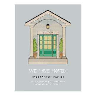 Custom Color Front Porch Moving Announcement Postcard