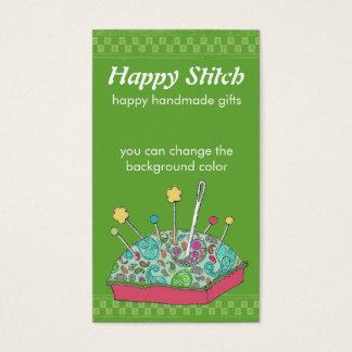 custom color hand drawn paisley sewing pincushion business card