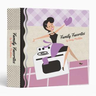 Custom color happy housewife recipe cookbook vinyl binders