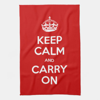 Custom Color Keep Calm and Carry On Towels